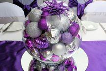 Christmas - Purple / White / Silver