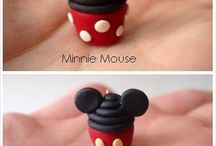 Disney clay cupcakes