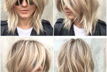 Mid length hair ideas.