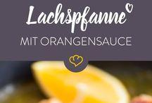 Lachspfanne mit Orangensaft