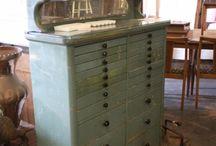 Vintage dental cabinets