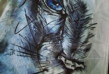 DREAMED THINGS / I would like to show my work. I do hand prints on T-shirts, eko bags and pillows. I hope you like it :) Enjoy <3