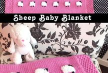 Sheep baby blanket.
