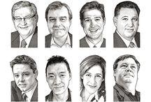 Corporate Portraits | Pen & Ink Stipple / Corporate Portraits | Pen & Ink Stipple