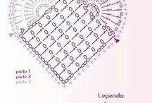hæklet hjerte