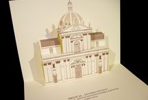 Cathedrals, Churches, Duomo, Basilica / Our 3D Pop-up kirigami postcards (Origamic architecture - Paper Architecture) are an Elegant and Refined article, Ideal for every occasion, Unique of its kind thanks to the original Three-dimensionality. The study and attention to details, as well as the high quality materials used for their production make them an Exclusive and Distinguishing item too. / by GIOVANNIRUSSOGRAFICO - Padova, Italy