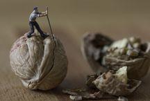 little people in the big world / geinspireerd door Slinkachu...