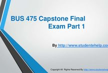 BUS 475 Capstone Final Examination Part 1