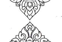 Трафареты (вышивка, дерево, печать на ткани)
