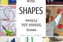 Learning Shapes / Help kids to learn their shapes with these fun activities!  #ShapeActivities #ShapeGames #ShapeBooks
