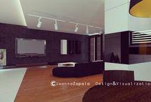 Autorski projekt wnętrz & wizualizacje 3D / Apartament Monachium / #interiordesign #visualization3D #architecture #apartament #concrete #modernarchitecture  #design #wood #ApartamentMonachium #joannazapala