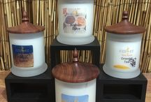 Silk Road Collection / Soy Wax Candles with Locally crafted Jarrah Wood lids