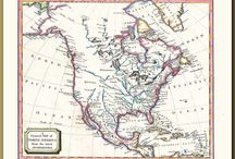 Historical Maps / I really enjoy looking at old maps and noticing interesting things that reveal how the world was perceived in the olden days...for example, sea monsters in the sea, California shown as an island, the coastlines of Australia and New Zealand only being partially shown etc etc.