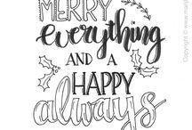 Kerst handlettering