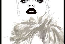 Fashion posters / Posters and art prints with style and fashion. Beautiful fashion illustrations and trendy text posters with Prada, quotes from Coco chanel and Tom Ford, photography, sketches, posters with lipstick, perfume and nail polish. Why not make a neat collage, a picture wall in a true fashion spirit. www.desenio.com