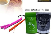 Zipper Coffee Bags / Tea Bags / Companies who have unique applications and unique products use #ZipperBags for #Coffee, #Tea and other #FoodPackaging and our company is an expert with #zipperBags or resealable bags.