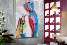 CUADROS DECORATIVOS / Propuestas para decorar tu hogar con cuadros con bastidor de madera y pintados sobre lienzo con acrilicos.