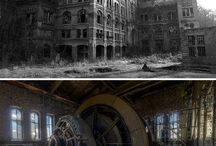 Abandoned places / Beautiful old deserted places I'd love to go to