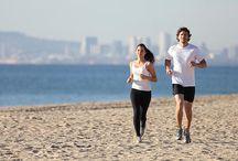 jogging In sand in beach
