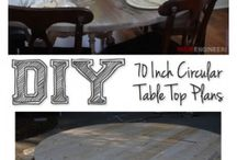 diy round farm table / DIY Furniture