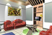 Home interior / Corporate office interior, Showroom & restaurant interior, Apartment interior, kitchen cabinet interior etc.