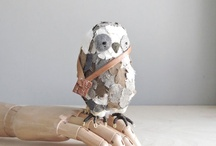 Bird Soft Sculpture / Amazing 3D recreations of birds in material and paper.