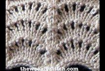 vzorečky háčkované+pletené