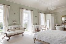 Bridal Suite at Pennard House / This is where bridal parties relax and get ready for the big day. With hand painted walls and big windows to let the light in, it provides a perfect backdrop for wedding preparations and where the couple can stay at the end of the night.