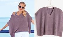tricot poncho