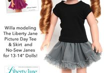 Liberty Jane Designs To Fit Wellie Wishers Dolls / Doll clothes patterns designed to fit 14.5 inch Wellie Wishers dolls.