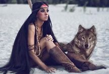 I just love them <3 Wolves <3 <3 / Her home is that place where the spirit of women and the spirit of wolf meet ....<3