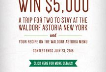 Waldorf Salad Refresh Recipe Contest / We're giving away $5,000 and a trip to the Waldorf Astoria in New York. Submit your winning #WaldorfSaladRefresh recipe today! Check out the details and enter here: www.Walnuts.org/Waldorf  / by California Walnuts