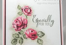 Flower stamp cards