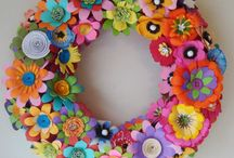 Paper Flower Wreaths / by Carole Farber