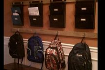 Homework Stations/Backpack location