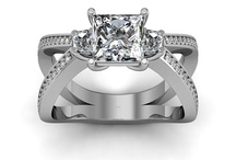 Pave Engagement Rings / by DIAMOND MANSION CO. Unique Engagement Rings