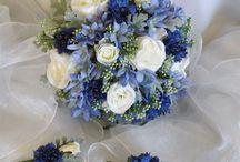 bouquet mariage + accessoires tenue
