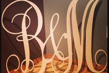 Wedding Letters / SO many cool things you can do for your wedding with wooden letters! Get creative! Have fun!