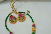 silk thread bangles and earrings