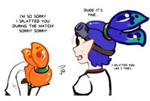 Splatoon orange and blue