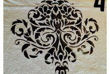 Stencil curtains