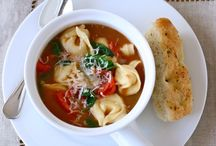 Easy, Delicious Soup Recipes / I've been in denial about this cold weather, but my denial is not making it go away.  It's probably time to accept it and start wearing socks.  I really just want to stay inside and eat soup.  Do you have a favorite easy soup recipe you can share? / by Breena Jenson