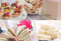 Baby birthday menu & decor