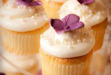 Cupcaky - fialové a růžové
