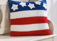 Red White and Blue / Knit and Crochet patterns in red, white and blue - perfect for 4th of July, Memorial Day, Labor Day....or every day!
