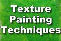 técnica de pintura con texturas