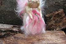 lana cardata e bambole waldorf
