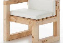 Καρεκλα τετράγωνη με ξυλα