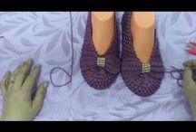 papucoi de casa crosetati