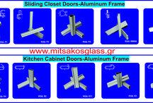 Aluminum Wardrobe Frames- www.mitsakosglass.gr